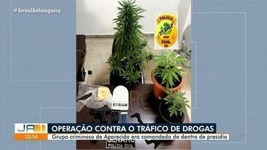 Operação desarticula grupo suspeito de tráfico de drogas, em Aparecida de Goiânia - De acordo com a polícia, quadrilha era comandada de dentro do presídio.