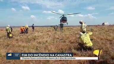 Termina incêndio na Serra da Canastra - Chamas foram controladas depois de 6 dias de combate.