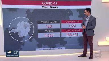 Veja os números da Covid-19 em Minas Gerais - 120 pessoas morreram nas últimas 14 horas. Aumento médio no número de mortes chegou a 18% em relação aos últimos 14 dias