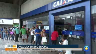 Onze agências da Caixa ficam abertas neste sábado, na Paraíba - Abertura é para atender assuntos sobre o auxílio emergencial.