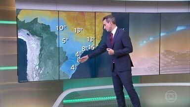 Amanhã (22), dia ainda vai começar gelado no centro-sul do país - A partir de domingo (23), massa de ar polar vai começar a perder força