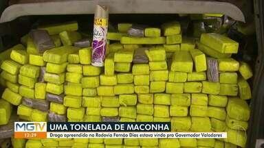 PRF apreende uma tonelada de maconha na rodovia Fernão Dias - Droga teria a cidade de Governador Valadares como destino.