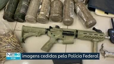 PF apreende fuzil exclusivo do Exército dos EUA e maconha, no Sertão - Ação ocorreu em Orocó. onde foi preso um fazendeiro