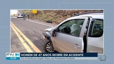 Motociclista morre vítima de acidente de trânsito na Rodovia Ângelo Rena - Vítima, de 47 anos, chegou a ser socorrida pelo Corpo de Bombeiros e encaminhada ao Hospital Regional (HR) para receber atendimento médico, mas não resistiu aos ferimentos.