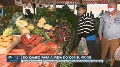 Covid-19: varejões de Piracicaba registraram aumento nas vendas durante a pandemia - Com o aumento de pessoas produzindo suas refeições em casa, comércios registram aumento na procura por alimentos vindo diretamente dos campos.