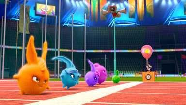 Quem É O Mais Rápido? - Sunny Bunnies vão ter sua própria corrida de atletismo, mas não sabem como as coisas funcionam. Os coelhos são rápidos e engenhosos, mas só vão saber quem venceu com a foto na linha de chegada.
