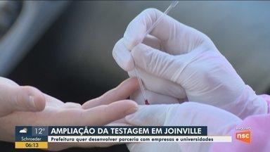 Joinville quer parcerias com empresas e universidades para ampliar testes - Joinville quer parcerias com empresas e universidades para ampliar testes
