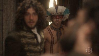 Joaquim tenta impedir Anna de cometer um crime - Piatã ajuda Joaquim a convencer Anna a não tirar a vida de Thomas