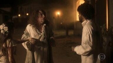 Libério salva Sebastião das chamas - Ingrato, Sebastião se revolta contra Cecília e o genro