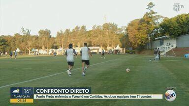Com 11 pontos cada, Ponte Preta e Paraná se enfrentam pela Série B - Jogo acontece às 19h15 desta terça-feira (1º), em Curitiba.