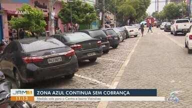 Em Manaus, 'Zona Azul' continua sem cobrança - Medida vale para o Centro e Vieiralves.