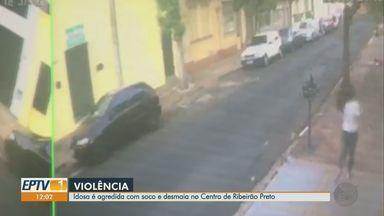 Idosa de 65 anos é agredida na rua com soco e desmaia em Ribeirão Preto - Vítima foi levada para o hospital, teve alta médica e passa bem.