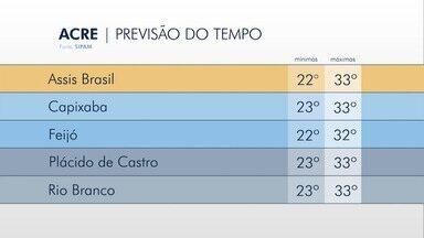 Saiba como fica a previsão do tempo para esta terça-feira (1) no Acre - Saiba como fica a previsão do tempo para esta terça-feira (1) no Acre