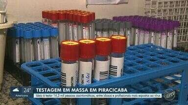 Covid-19: Piracicaba pretende testar 14,3 mil moradores a partir desta terça-feira (1) - De acordo com a prefeitura, a ideia é testar pessoas assintomáticas para fazer um inquérito sorológico, totalizando cerca de 50 mil testes.