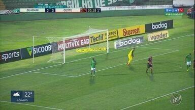 Guarani fica no empate e mantém jejum na Série B - Empate em casa, diante do Oeste, serviu para interromper sequência de derrotas.