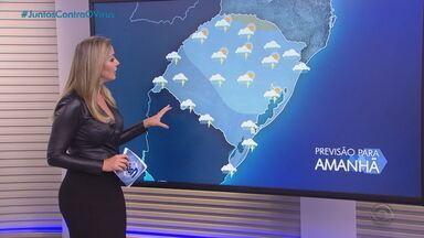 Nova frente fria deve provocar chuva volumosa no RS nesta quarta-feira (2) - Assista ao vídeo.