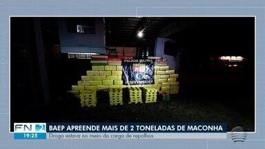 PM apreende mais de duas toneladas de maconha em caminhão - Motorista foi levado para o CDP de Caiuá.