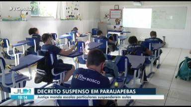 Justiça manda escolas particulares de Parauapebas suspenderem aulas - Justiça manda escolas particulares de Parauapebas suspenderem aulas
