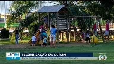 Em Gurupi, parques infantis e treinos de escolas de futebol são liberados - Em Gurupi, parques infantis e treinos de escolas de futebol são liberados