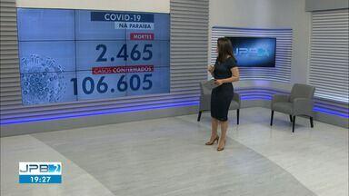 Paraíba tem 106.605 casos confirmados e 2.465 mortes por coronavírus - São 827 casos e 15 mortes confirmadas nesta terça-feira (1º).