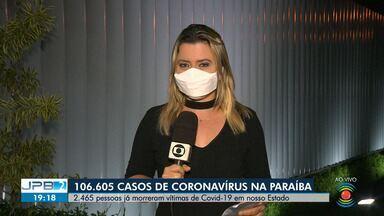 106.605 casos de coronavírus são confirmados na Paraíba - 2.465 pessoas já morreram vítimas de Covid-19 no Estado.