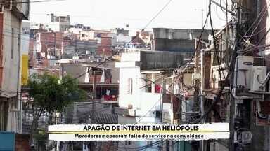Heliópolis vive um 'apagão' de internet e moradores reclamam da falta do serviço - Uma equipe de jovens e de educadores fez pesquisa para atestar alcance da internet na maior comunidade de SP.