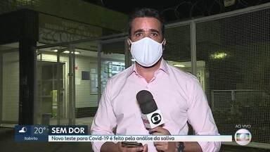 Novo teste para a Covid é feito com a saliva - o governo de Minas começou a modalidade do teste, que traz mais conforto aos pacientes.