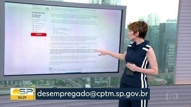 CPTM retoma emissão de bilhete para desempregados - Serviço estava suspenso desde março.