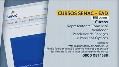 Senac oferece 108 vagas em cursos gratuitos - As oportunidades são para diversas áreas.