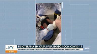 Balneário Camboriú começa fisioterapia em casa para idosos com Covid - Balneário Camboriú começa fisioterapia em casa para idosos com Covid