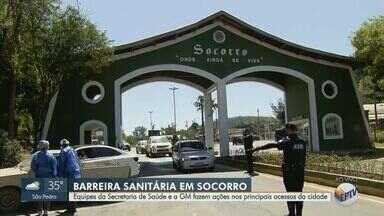 Socorro instala barreiras sanitárias por conta do feriado prolongado - Equipes da Secretaria de Saúde e a GM estão nos principais acessos da cidade para evitar o avanço da pandemia da Covid-19.