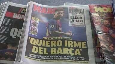 Após tentar rescisão, Messi anuncia que fica no Barcelona - Após tentar rescisão, Messi anuncia que fica no Barcelona