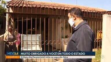 Meio-Dia Paraná volta ter apresentação local a partir do dia 7 de setembro - Foram quase 6 meses com a sua companhia na apresentação estadual.