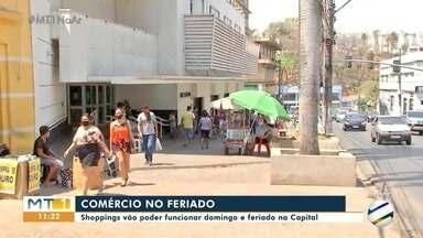 Shoppings vão poder funcionar domingo e feriado em Cuiabá - Shoppings vão poder funcionar domingo e feriado em Cuiabá.