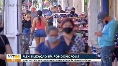 Novo decreto autoriza eventos e reabertura de cinemas e clubes em Rondonópolis - Novo decreto autoriza eventos e reabertura de cinemas e clubes em Rondonópolis.