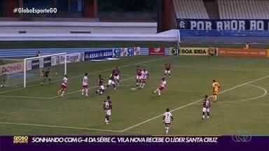 Vila Nova recebe o líder Santa Cruz e tenta reagir na Série C - Com apenas uma vitória no Brasileirão, Tigre espera se recuperar em casa.