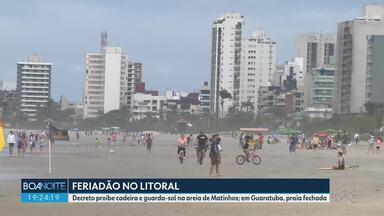 Feriado prolongado atraiu muitas pessoas para o litoral do estado - Turistas precisaram se adaptar às novas regras.