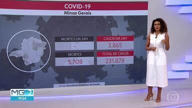 Atualização da Covid-19 em Minas : 231.878 casos e 5.708 mortes - A ocupação das unidades de tratamento intensivo é de 63 por cento.