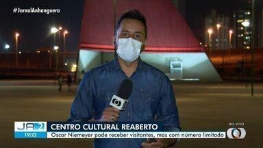 Centro Cultural Oscar Niemeyer volta a funionar, em Goiânia - É preciso seguir normas da saúde pra frequentar o local.
