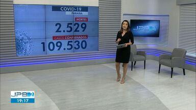 Paraíba tem mais de 108 mil casos confirmados de coronavírus - Dados são do Boletim Epidemiológico das últimas 24h