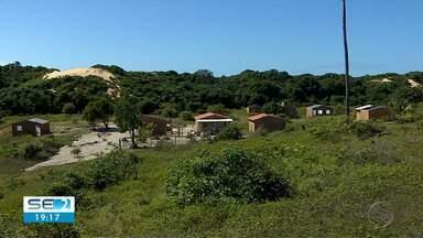 Fiscalização ocorre em área de preservação na Barra dos Coqueiros - Fiscalização ocorre em área de preservação na Barra dos Coqueiros.