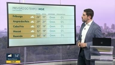 Veja a previsão do tempo hoje no Estado - Tempo deve ficar firme em todo Rio de Janeiro