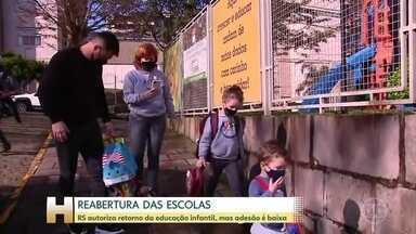 Educação infantil é retomada em onze regiões do Rio Grande do Sul - Adesão dos municípios, no entanto, foi baixa.