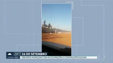 Grileiros tentam burlar fiscalização do GDF - Mensagens que circulam na internet pedem que as pessoas ocupem construções irregulares no Assentamento 26 de Setembro.