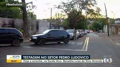 Começa nova rodada de testes para Covid-19 em Goiânia - Eles serão realizados em escola municipal do Setor Pedro Ludovico.