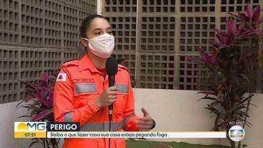 Bombeiros já registraram mais 1500 incêndios em residências este ano em Minas - As ocorrências envolvem incêndios em apartamentos, casas e prédios comerciais.