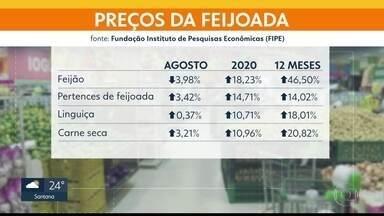 Preços de pertences de feijoada subiram quase 15% nos últimos 12 meses - Produtos estão entre os destaques do balanço de agosto do Índice de Preços ao Consumidor de São Paulo, medido pela FIPE