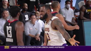 Com Lebron James inspirado, LA Lakers vence o Houston Rockets pelos playoffs da NBA - Com Lebron James inspirado, LA Lakers vence o Houston Rockets pelos playoffs da NBA