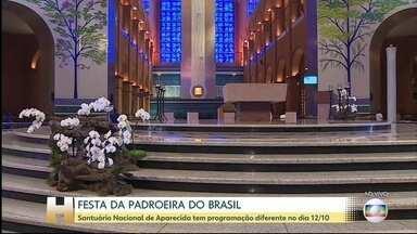 Santuário Nacional de Aparecida tem programação diferente no dia 12 de outubro - A Festa da padroeira do Brasil será realizada com restrições por conta da pandemia.