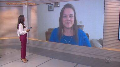 Giane Guerra comenta o desempenho da economia gaúcha em julho - Assista ao vídeo.